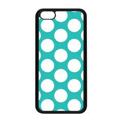 Turquoise Polkadot Pattern Apple Iphone 5c Seamless Case (black)