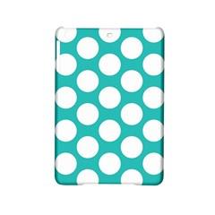 Turquoise Polkadot Pattern Apple iPad Mini 2 Hardshell Case