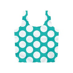 Turquoise Polkadot Pattern Reusable Bag (s)