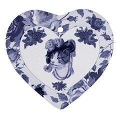 MISS KITTY Heart Ornament