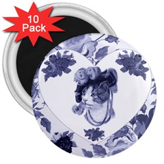 Miss Kitty 3  Button Magnet (10 Pack)