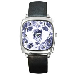 MISS KITTY Square Leather Watch