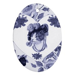MISS KITTY Oval Ornament (Two Sides)