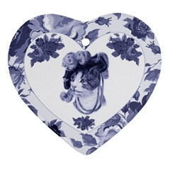 MISS KITTY Heart Ornament (Two Sides)