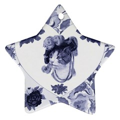 Miss Kitty Star Ornament (two Sides)
