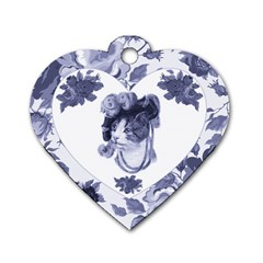 MISS KITTY Dog Tag Heart (Two Sided)