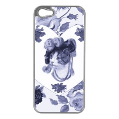 MISS KITTY Apple iPhone 5 Case (Silver)