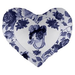 Miss Kitty 19  Premium Heart Shape Cushion