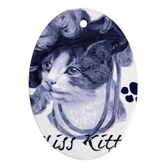 Miss Kitty Blues Oval Ornament