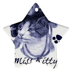 Miss Kitty blues Star Ornament