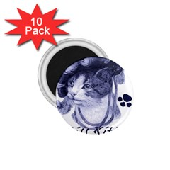 Miss Kitty blues 1.75  Button Magnet (10 pack)