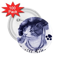 Miss Kitty Blues 2 25  Button (100 Pack)
