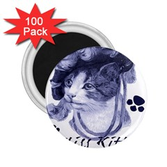 Miss Kitty Blues 2 25  Button Magnet (100 Pack)