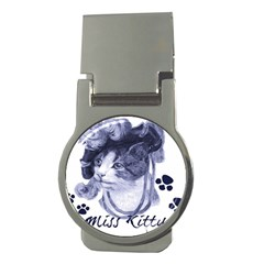 Miss Kitty blues Money Clip (Round)
