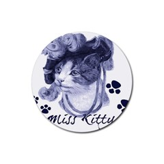 Miss Kitty Blues Drink Coaster (round)