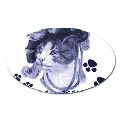 Miss Kitty blues Magnet (Oval)
