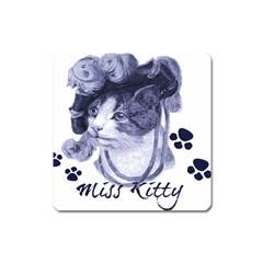 Miss Kitty blues Magnet (Square)