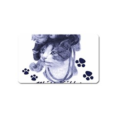 Miss Kitty blues Magnet (Name Card)