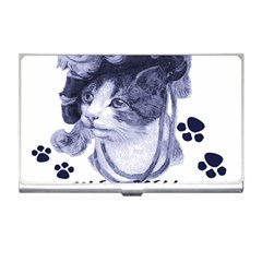 Miss Kitty blues Business Card Holder
