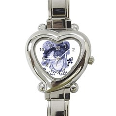 Miss Kitty Blues Heart Italian Charm Watch
