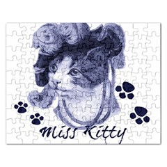 Miss Kitty Blues Jigsaw Puzzle (rectangle)