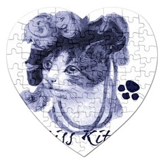 Miss Kitty Blues Jigsaw Puzzle (heart)