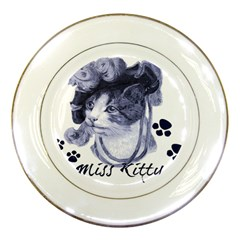 Miss Kitty blues Porcelain Display Plate