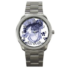 Miss Kitty blues Sport Metal Watch