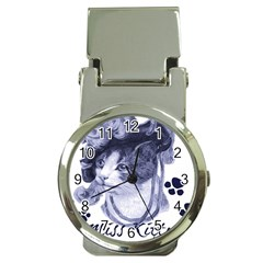 Miss Kitty blues Money Clip with Watch