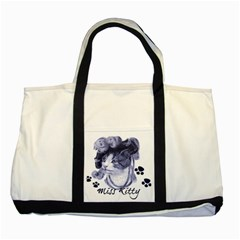 Miss Kitty Blues Two Toned Tote Bag