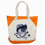 Miss Kitty blues Accent Tote Bag Front
