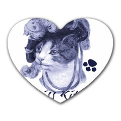 Miss Kitty blues Mouse Pad (Heart)