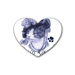 Miss Kitty blues Drink Coasters 4 Pack (Heart)