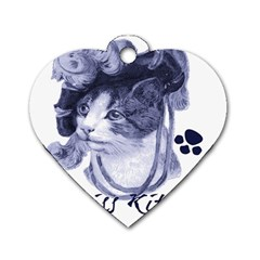 Miss Kitty blues Dog Tag Heart (One Sided)