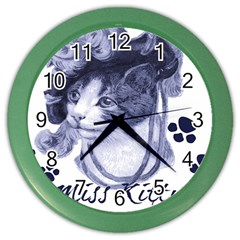 Miss Kitty blues Wall Clock (Color)