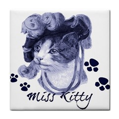 Miss Kitty Blues Face Towel