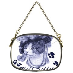 Miss Kitty Blues Chain Purse (one Side)