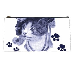 Miss Kitty blues Pencil Case