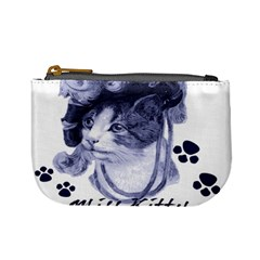 Miss Kitty blues Coin Change Purse