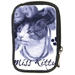 Miss Kitty blues Compact Camera Leather Case