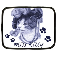 Miss Kitty blues Netbook Sleeve (XXL)