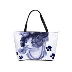 Miss Kitty blues Large Shoulder Bag