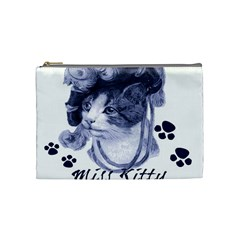Miss Kitty Blues Cosmetic Bag (medium)