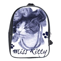 Miss Kitty blues School Bag (Large)