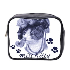 Miss Kitty Blues Mini Travel Toiletry Bag (two Sides)