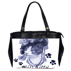 Miss Kitty Blues Oversize Office Handbag (two Sides)