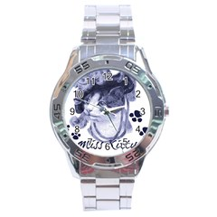 Miss Kitty blues Stainless Steel Watch