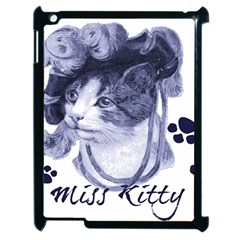 Miss Kitty blues Apple iPad 2 Case (Black)