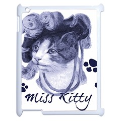 Miss Kitty blues Apple iPad 2 Case (White)