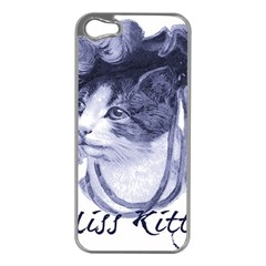 Miss Kitty blues Apple iPhone 5 Case (Silver)